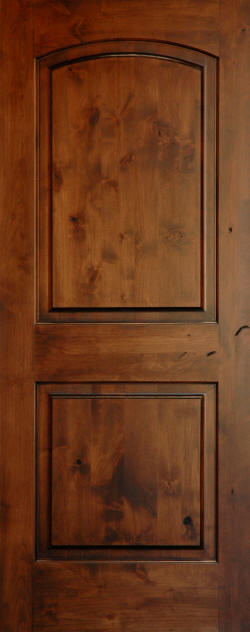 Knotty Alder Arch Top 2 Panel Wood Doors Homestead