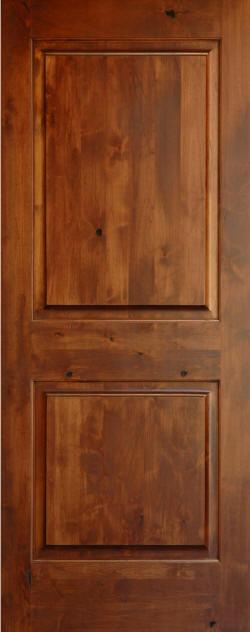 Knotty alder 2 panel wood doors homestead interior doors for Knotty alder wood doors