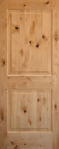 Knotty Alder 2-Panel Wood Interior Door