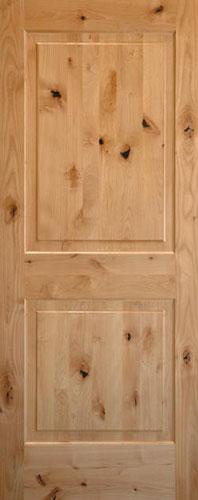 Knotty Alder 2 Panel Wood Interior Doors Homestead Doors