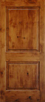 Raised 2 Panel Knotty Alder Door