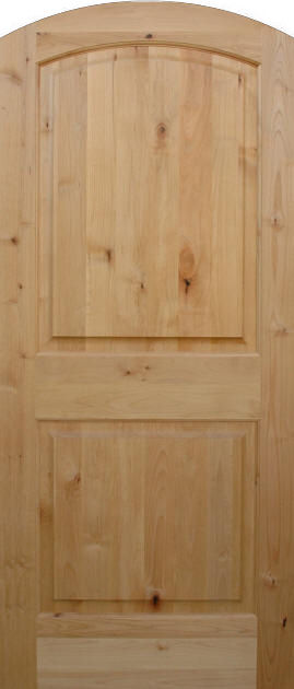 Knotty Alder True Arch 2 Panel Wood Interior Doors
