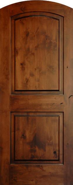 Knotty Alder True Eased Arch Doors Homestead Interior