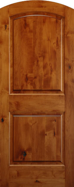 knotty alder true eased arch doors homestead interior doors