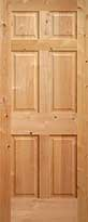 Knotty Alder 6-Panel Interior Door