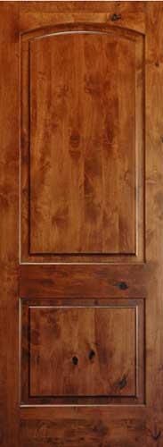 Knotty Alder 8 39 Arch 2 Panel Wood Interior Doors Homestead Doors