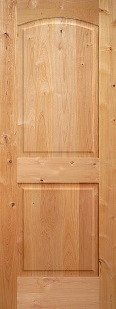 Knotty Alder Arch 2 Panel Wood Interior Door