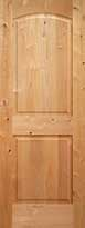 Knotty Alder Arch 2-Panel Interior Door