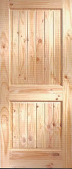Knotty Pine V-grooved 2 panel