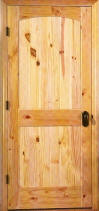 Knotty Pine Arch 2-Panel V-Grooved Interior Door