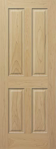 Poplar 4 Panel Wood Interior Doors Homestead Doors