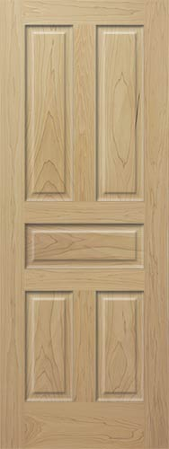 Poplar 5 Panel Wood Interior Door