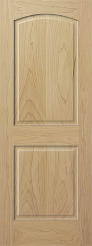 Poplar Arch 2-Panel Interior Wood Door