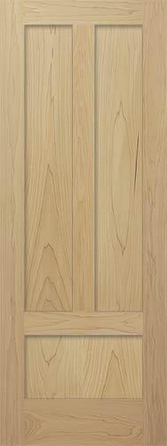 Poplar Mission Reverse 3 Panel Wood Interior Doors