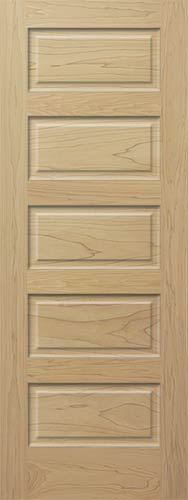 Attractive Poplar Horizontal 5 Panel Wood Interior Door