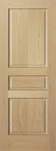 Poplar Colonial 3 Panel Wood Interior Door