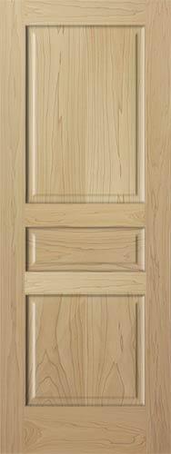 Poplar Colonial 3 Panel Wood Interior Doors Homestead Doors