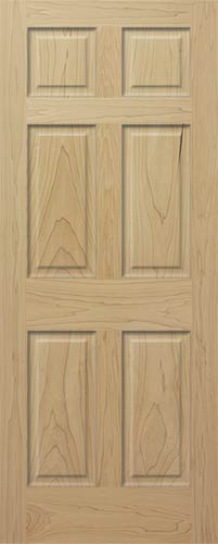 Poplar 6 Panel Interior Wood Door