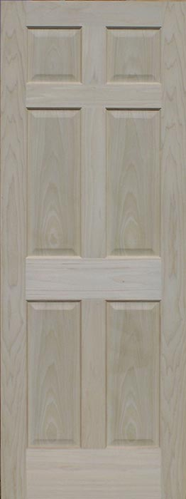 InteriorDoors_InStock_1TM_Poplar_Unfinished Poplar_door_HomesteadSeries8500_8panelRoundCenterPanel_unfinished Poplar 6-Panel Interior Door ... & Poplar Doors