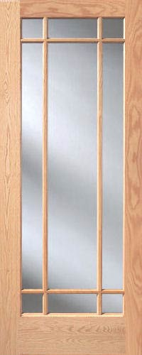 Red Oak Prairie 9 Lite French Interior Doors Homestead Doors