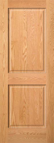Red Oak 2-Panel Wood Interior Door