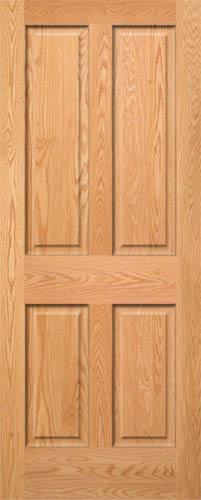 Red Oak 4 Panel Door