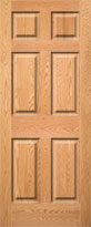 Red Oak 6-Panel Interior Door