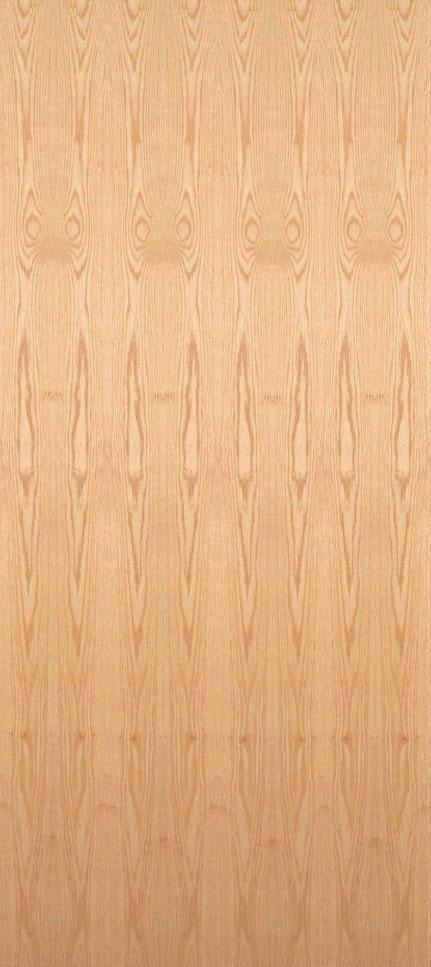Red oak flush wood interior doors homestead doors for Flush interior wood doors