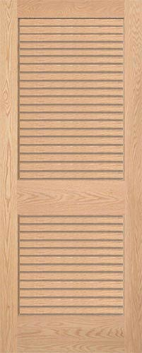 Superieur Red Oak Full Louvered Interior Wood Door