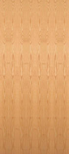 Flush red oak door