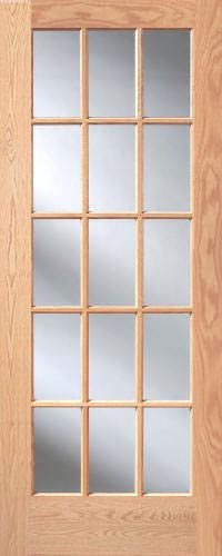Red oak 15 lite french interior doors homestead doors for 15 lite french door