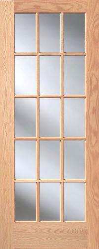 Red oak 15 lite french interior doors homestead doors for 15 light interior door white