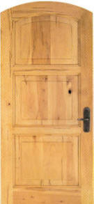 Rustic Soft Maple Door true eased arch equal 3-panel