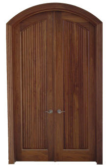 Homestead Series  Fluted arch top 1 panel walnut door