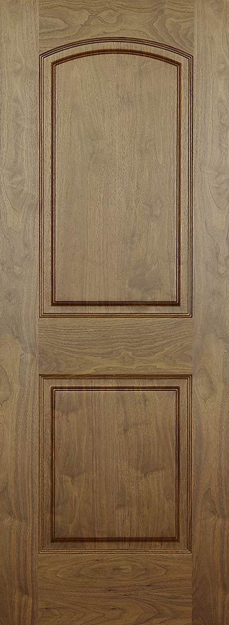 Walnut Arch 2-Panel Doors Hollow Core with Raised Panels & Walnut Arch 2-Panel Doors Hollow Core with Raised Panels ...