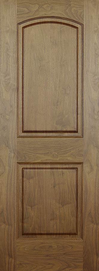 Walnut Arch 2 Panel Doors Hollow Core With Raised Panels Homestead Doors