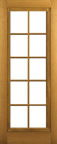 rossette riftsawn white oak door