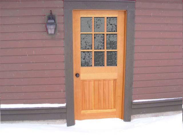 Wood exterior doors photo gallery homestead doors the for 9 lite wood exterior door