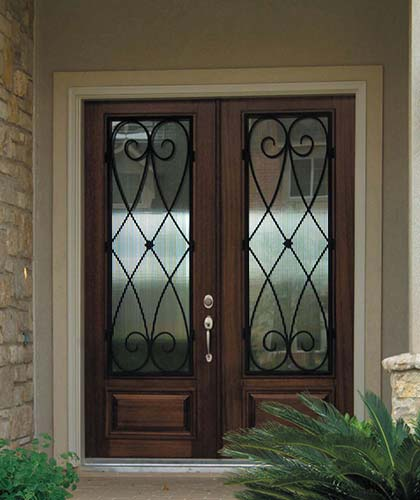 Front Entry Double Doors Exterior 420 x 500