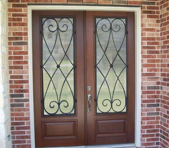 Wood exterior doors photo gallery homestead doors the for Double door house entrance
