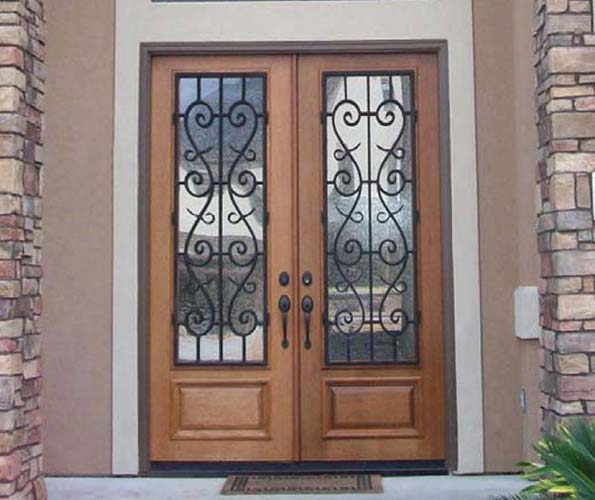 Wood exterior doors photo gallery homestead doors the for Double door front door