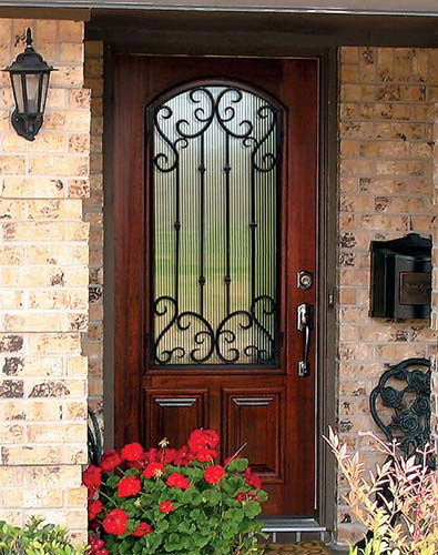 Wood exterior doors photo gallery homestead doors the for Single front doors with glass
