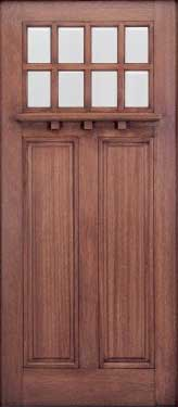 AAW Series HTC 50 Mahogany Entry Door
