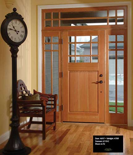 Rv 4697 Fir Entry Door With Sidelites Transom
