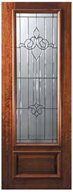 DP834A1 Mahogany Arlington Glass Exterior Door