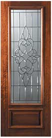 DP834C1 Mahogany Courtlandt Entry Door