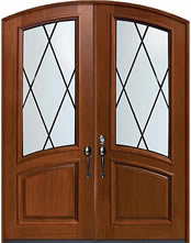 Decorative Glass Exterior Mahogany Double Door Sandringham Design