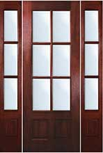 TDL 6-light Mahogany Exterior Door with Sidelights