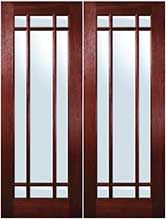 TDL 9light Mahogany Double Entry Doors