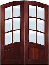 TDL ATD2 6light Mahogany Arched Rail Front Doors